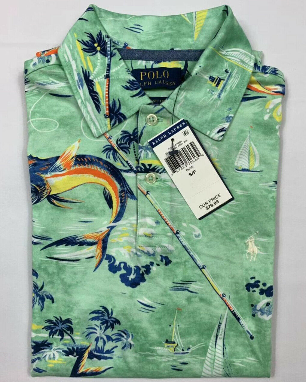 NWT-Polo-Ralph-Lauren-Men-Floral-SOFT-TOUCH-Polo-Shirt-S-M-L-XL-XXL-Big-amp-Tall miniature 5