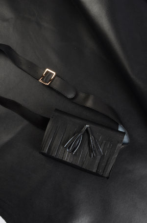 The Fringe Fanny Pack in Ink