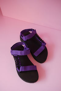 24mm Embellishment Sporty Sandals in Ube