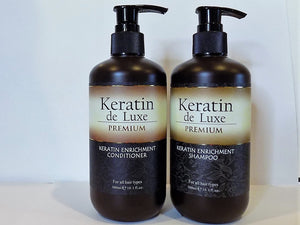 Keratin de Luxe shampoo and conditioner set, for damaged hair 2X10.1 fl.oz