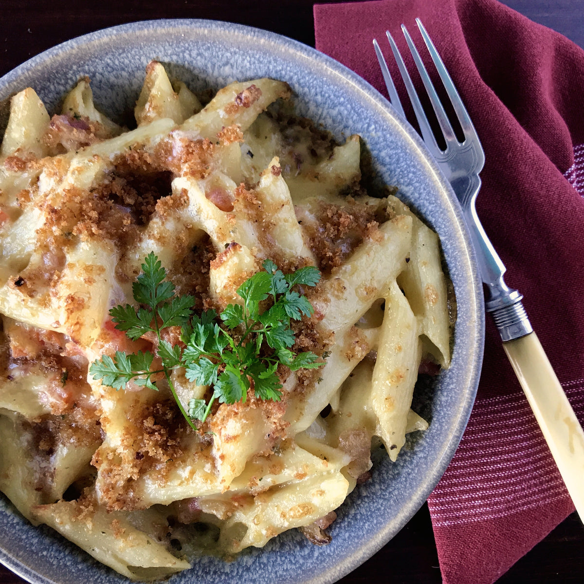 Penne & Bacon Cheese Bake | Freezer