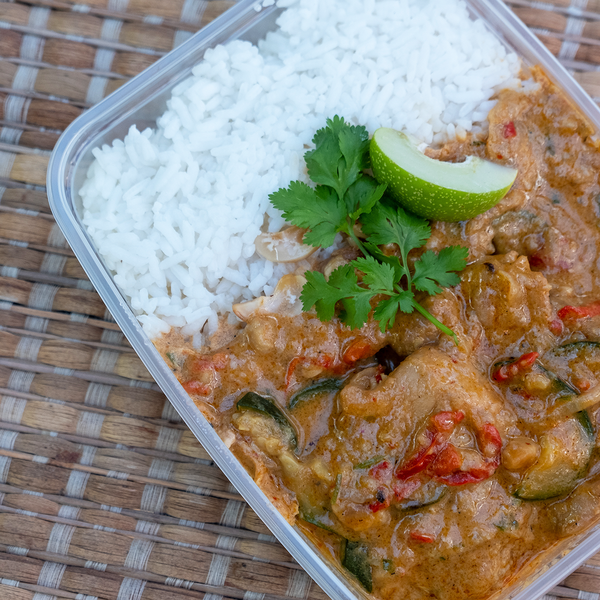 Thai Chicken Curry with Rice | Freezer