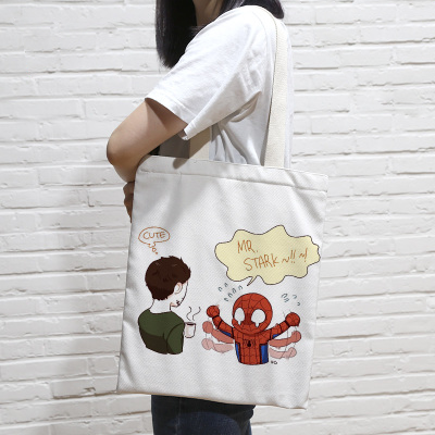 Spiderman & Ironman Grocery Bag