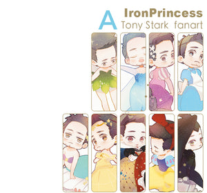 Tony Stark Fanart Postcard& Stickers (Iron Princess)