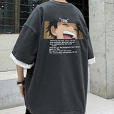 One Piece Stampede Monkey D.Luffy Squinting with Smiling T-shirt