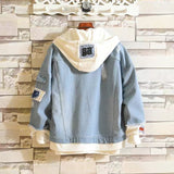 One Piece Stylish Hooded Denim Jacket