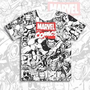 Marvel Comics Superheroes Short & Long Sleeves T-shirt