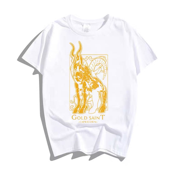 Saint Seiya 12 Gold Saints Constellation White Summer T-shirt