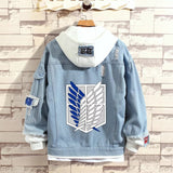 Attack on Titan Stylish Hooded Denim Jacket