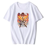 Attack on Titan in Fight Graphic Summer T-shirt