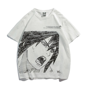 Sasuke Uchiha Shouting Sketch Summer T-shirt