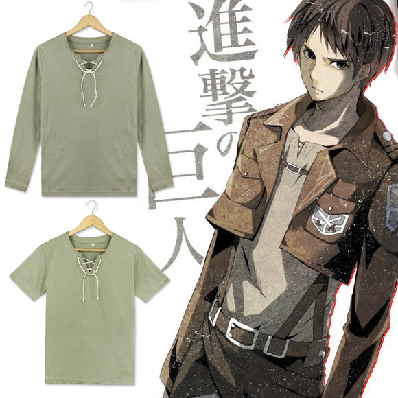 Attack on Titan Shingeki no Kyojin Eren Jaeger Cosplay Top