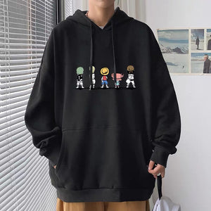 Straw Hat Pirates Standing in A Row Hoodie