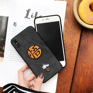 Goku Sketch and Icon Embroidery iPhone Protection Case