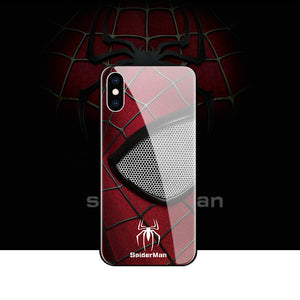 Spiderman Tempered Glass iPhone Case