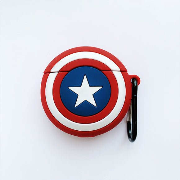 Captain Shield/Spiderman Face/Black Panther/Deadpool/SHIELD Airpods Protect Case