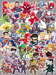 Marvel & DC Comics Superheroes Stickers