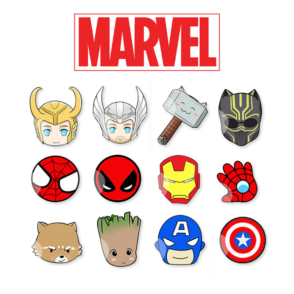 Cute Superheroes Silver Stud Earrings