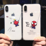 [2 FOR 1] Cute Spiderman iPhone Case