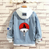 Naruto Stylish Hooded Denim Jacket