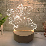 Demon Slayer 3D illusion Action Figure LED Lamp