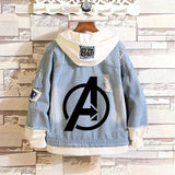 Marvel Avengers Hooded Denim Jacket