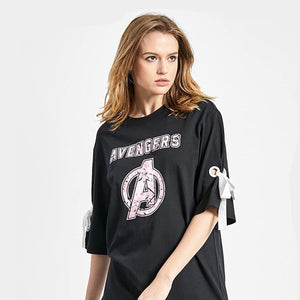 Avengers: End of Game Logo with Ribbon Girls' Tee