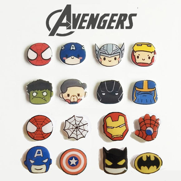 Superheroes Silver Stud Earrings
