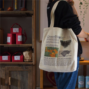 Game of Thrones Canvas Tote Bag - Valar Morghulis