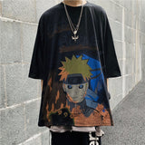 Uzumaki Naruto Graffiti Oversized Summer T-shirt