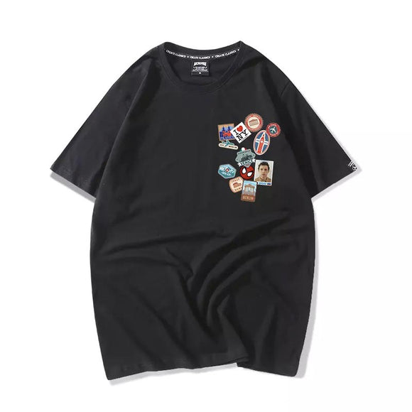 Spider-Man: Far From Home Poster Badge Tee