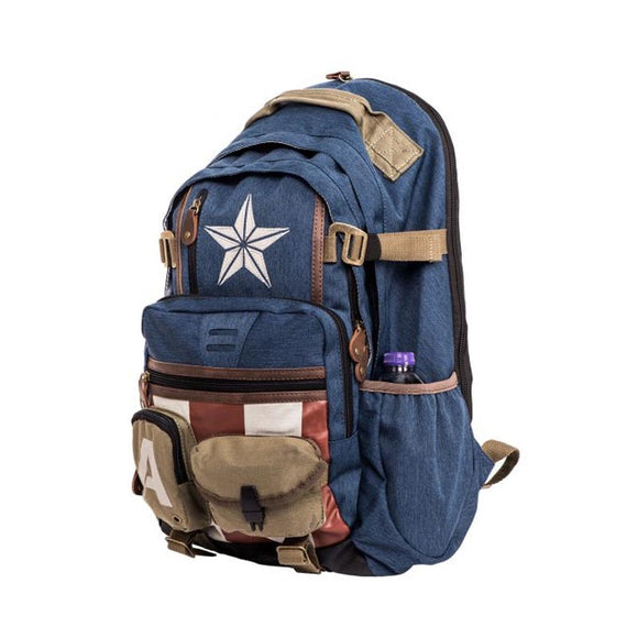 Captain America Star and Straps Backpack