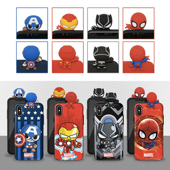 Marvel Avengers Figure Mirror Card Case for iPhone