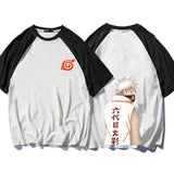 Naruto Fourth/Sixth/Seventh Hokage Raglan Summer T-shirt
