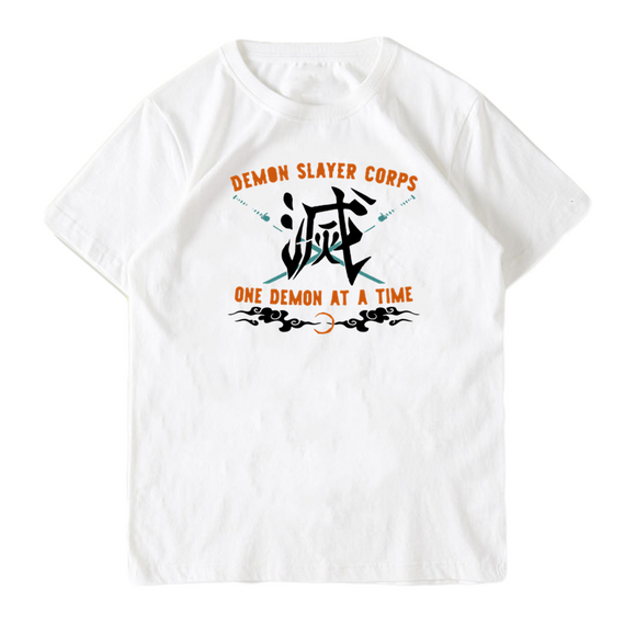 Demon Slayer Corps One Demon At a Time Summer T-shirt