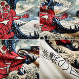 Attack on Titan Fights in Wave Summer T-shirt