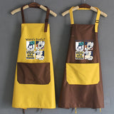 Mickey Mouse and Donald Duck Grid Kitchen Apron