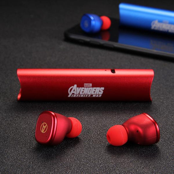 Iron Man/Captain America/Black Panther Wireless Bluetooth Sports Earbuds with Charging Case
