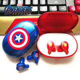 Iron Man & Captain America Wireless Stereo Earbuds with Charging Box