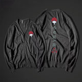 Naruto Uchiha Clan Symbol Button-Front Cardigan Sweater