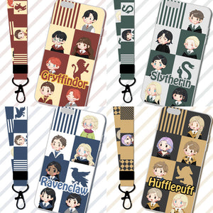 Harry Potter Gryffindor/Slytherin/Hufflepuff/Ravenclaw Cartoon Phone Case