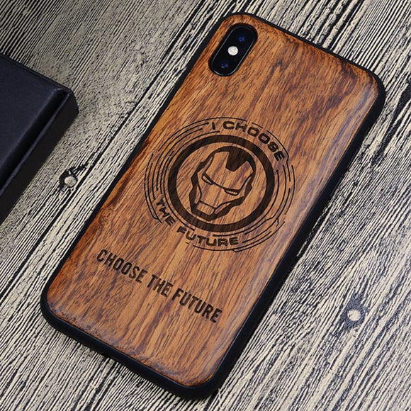 Marvel Avengers Carved Wood iPhone Case