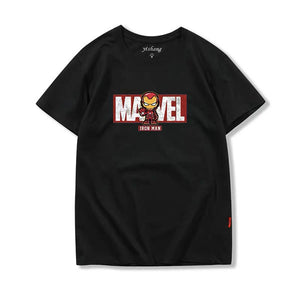 Avengers Black Graphic T-shirt with Marvel Logo