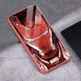 Iron Man / Captain Marvel / Thanos Tempered Glass iPhone Case