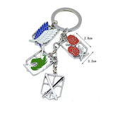 Attack on Titan Pendant Metal Keychain