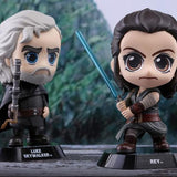 Hot Toys Rey & Luke Skywalker Cosbaby Bobble-head Collectible Set