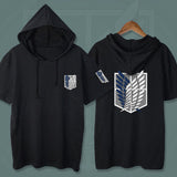 Attack on Titan Symbol Hooded Summer T-shirt
