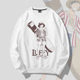 Monkey D. Luffy & Chopper Sketch Pullover Sweatshirt