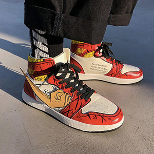 One Piece Luffy & Zoro Men's Outdoor High Top Sneakers