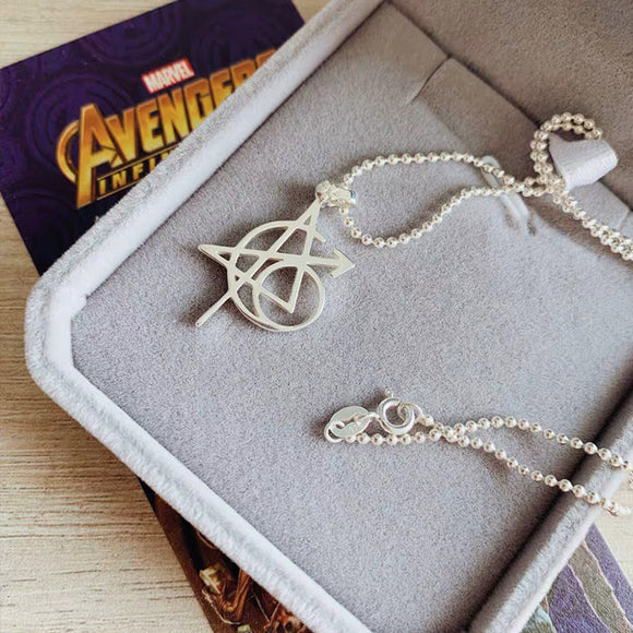 Avengers Original 6 Tattoo Symbol Necklace